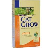 Cat Chow для взрослых кошек с курицей и индейкой