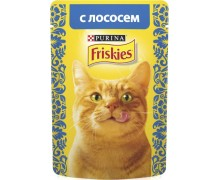 Friskies для взрослых кошек с лососем
