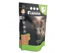 Наполнитель для кошачьих туалетов Gamma древесный, мелкие гранулы