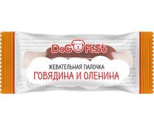 """Лакомства для собак """"DOG FEST"""" жевательная палочка говядина и оленина, 4,6г"""